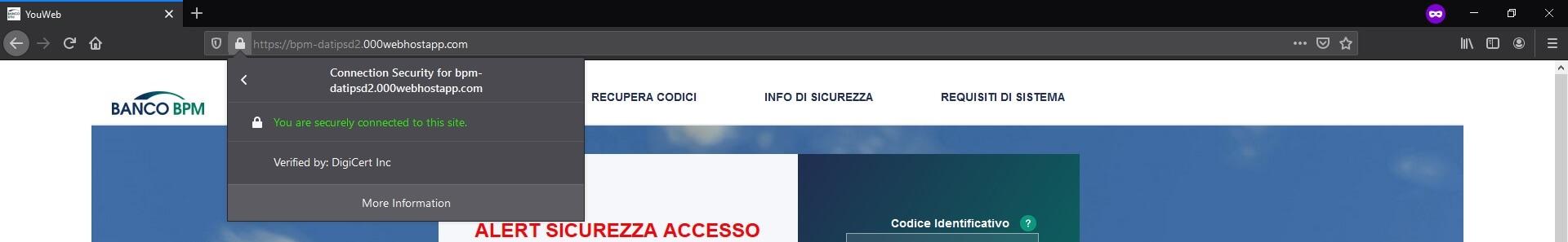Banco Popolare sito truffa https