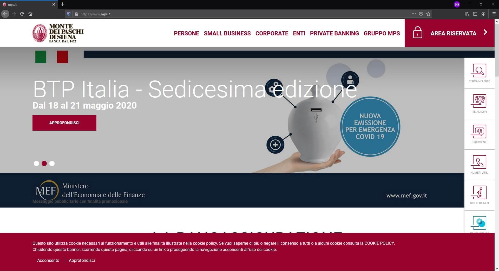 Banca MPS sito