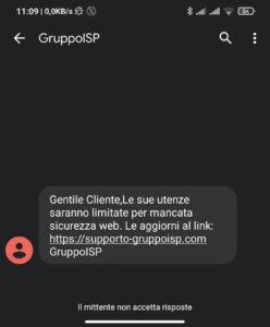 gruppo isp truffa sms