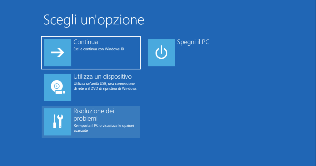 BIOS UEFI Windows 10 Risoluzione problemi