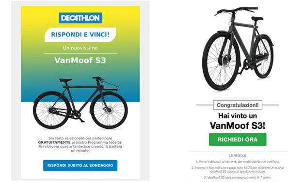 DECATHLON TRUFFA: Rispondi e Vinci un VanMoof S3