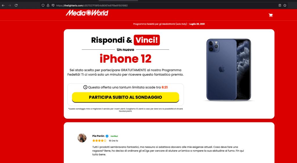 mediaworld-truffa-rispondi-e-vinci-un-iphone-12-2
