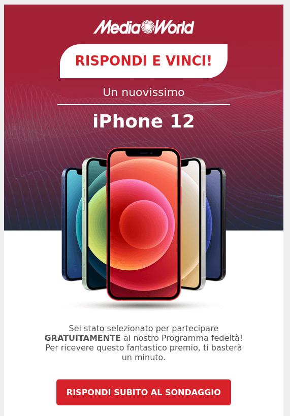 mediaworld-truffa-rispondi-e-vinci-un-iphone-12