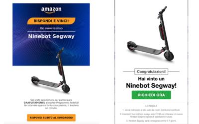 AMAZON TRUFFA: Rispondi e Vinci un Ninebot Segway