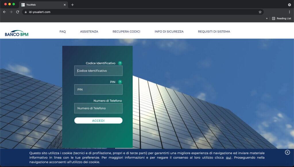 youalert-truffa-dispositivo-non-autorizzato-connesso-al-conto-online-homepage-link