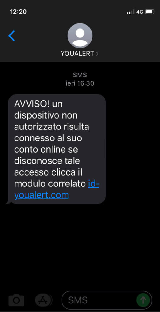 your lert-truffa-dispositivo-non-autorizzato-connesso-al-conto-online-sms
