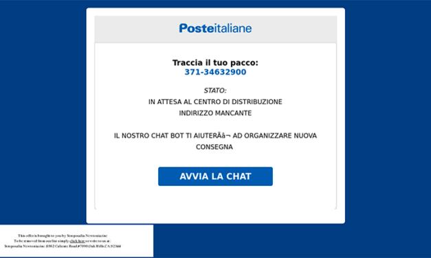 POSTE ITALIANE TRUFFA, il tuo pacchetto è in arrivo