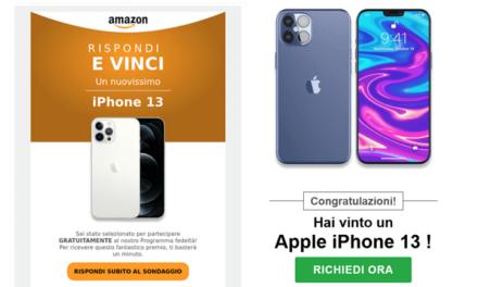 AMAZON TRUFFA: Rispondi e Vinci un iPhone 13